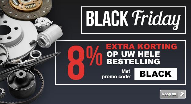 8% extra Black Friday korting bij Mister-Auto