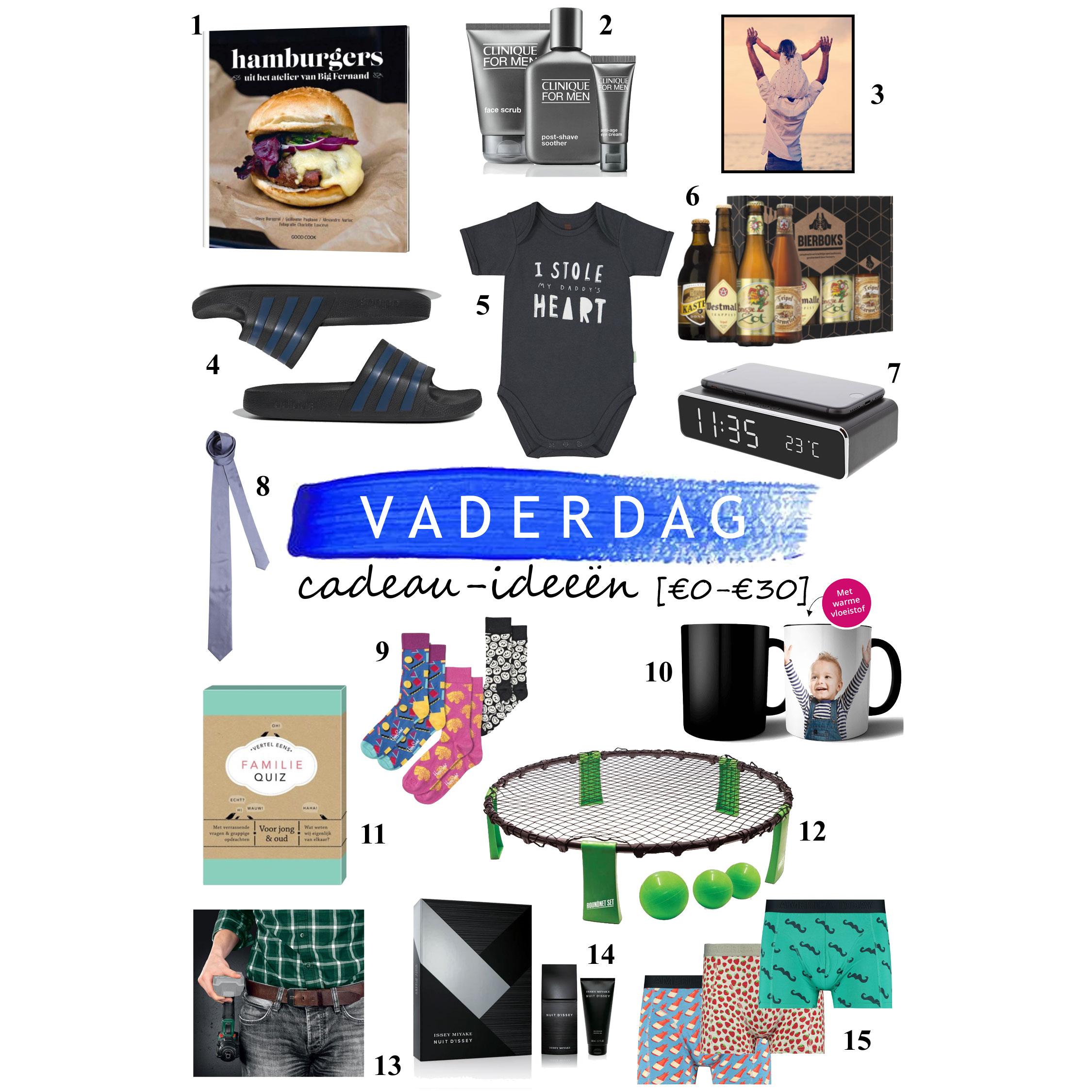 21 juni Vaderdag - 15 budget cadeau-tips [€0 - €30]
