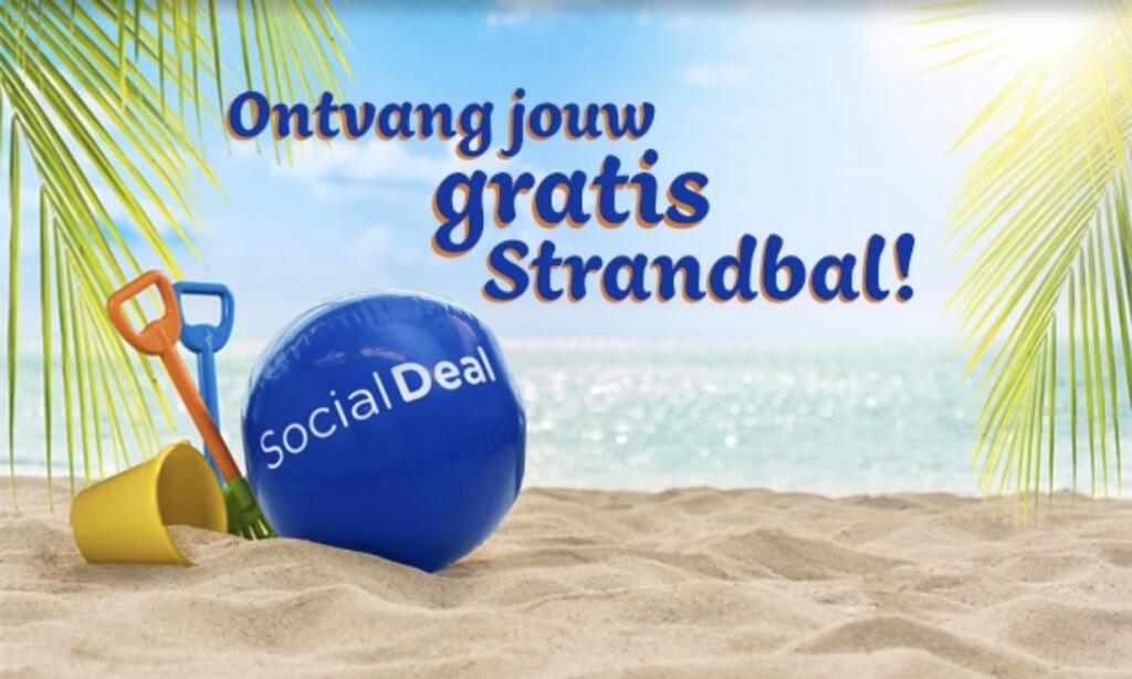 Gratis strandbal via SocialDeal!