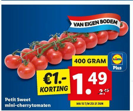 Petit sweet deluxe cherry tomaten @ Lidl