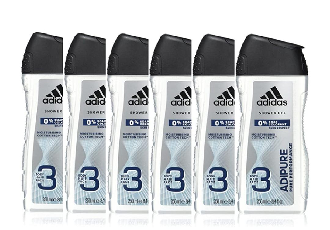 Adidas Adipure Douchegel 250 ml, 6-pack 250 ml