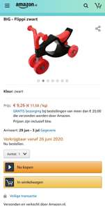 Loopfiets €9,26 @ Amazon.nl