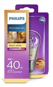 4 Philips dimmable led lampen - 40W E27