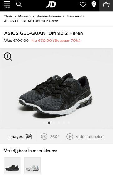 JD Sports ASICS Gel-Quantum 90 2 schoenen diverse maten nog!