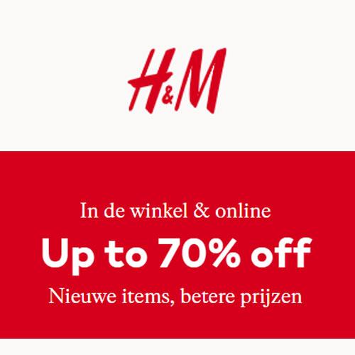 SALE tot -70% @ H&M