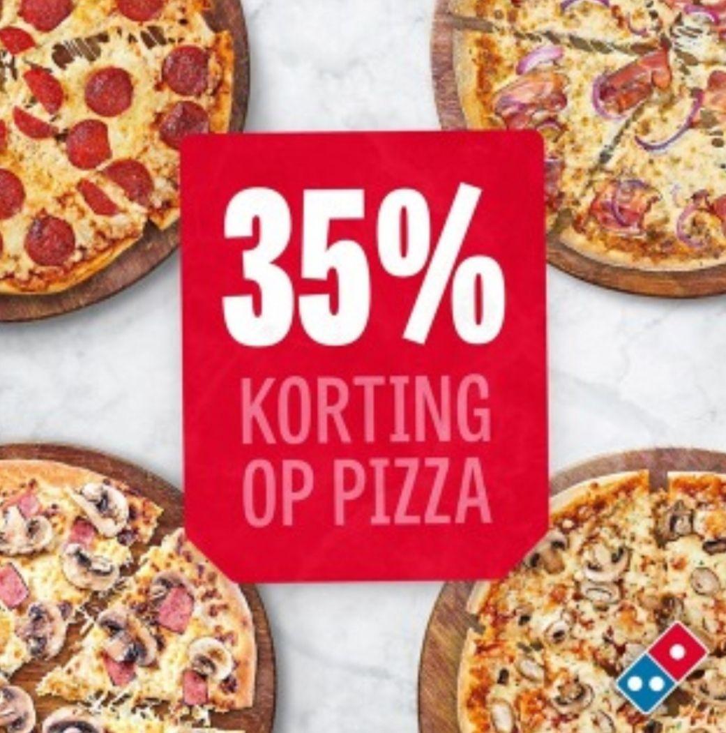 [Lokaal] 35% korting op Pizza bij Domino's