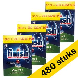 4x Finish All-in-1 vaatwastabletten (120 stuks) is 480 stuks!