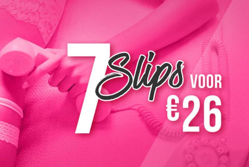 7 slips voor €26 + gratis verzending @ Hunkemöller