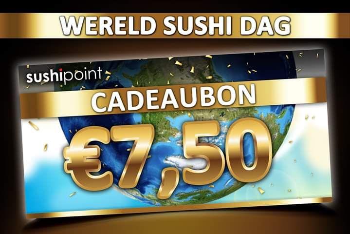 €7,50 korting bij Sushipoint landelijk (vanaf €25)