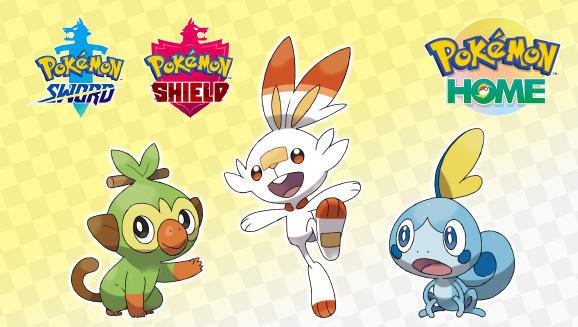 Gratis Grookey, Scorbunny en Sobble in Pokemon Sword / Shield bij gebruik van Pokemon Home