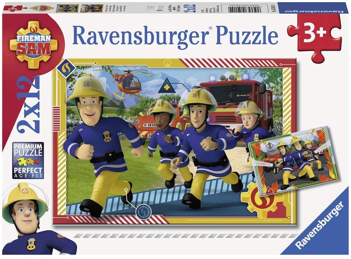 Ravensburger 50154 Puzzel Brandweerman Sam En Zijn Team - Twee Puzzels - 12 Stukjes