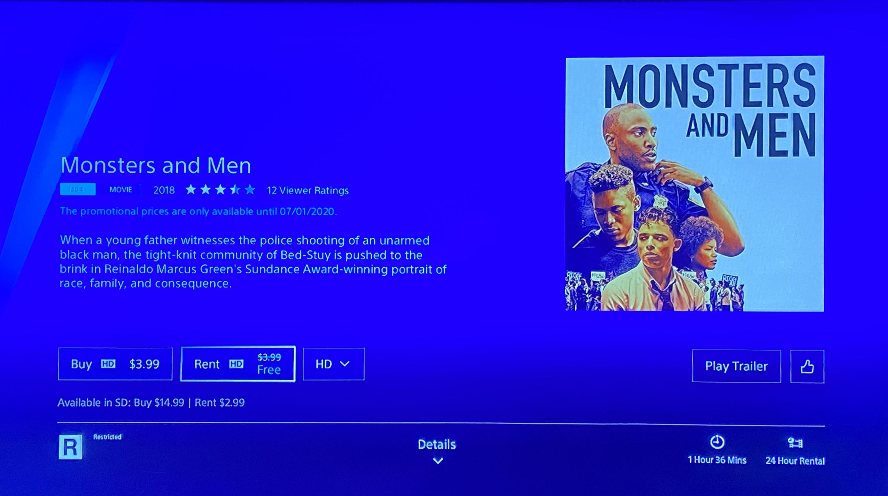 PS store US Gratis film: Monsters and Men