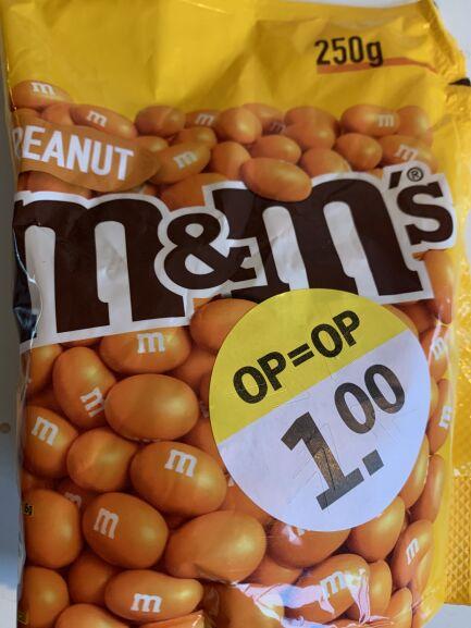 [Lokaal Den Haag] Oranje M&M Pinda (250gr): 1 euro (4 euro per kg) @AH