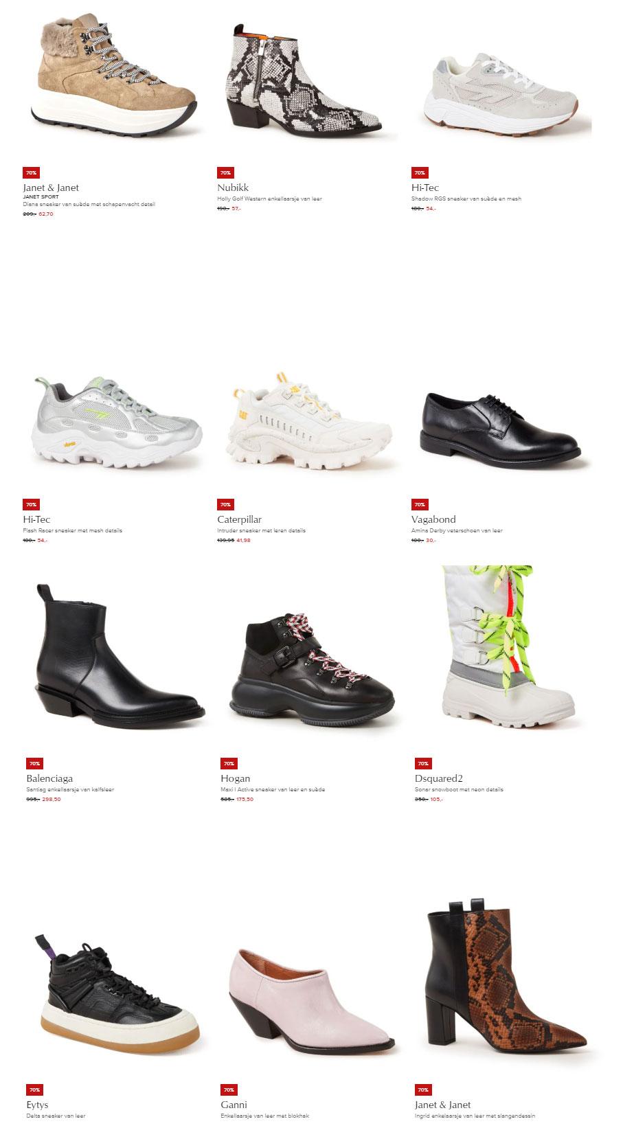 Design schoenen -70% [laatste maten] @ De Bijenkorf