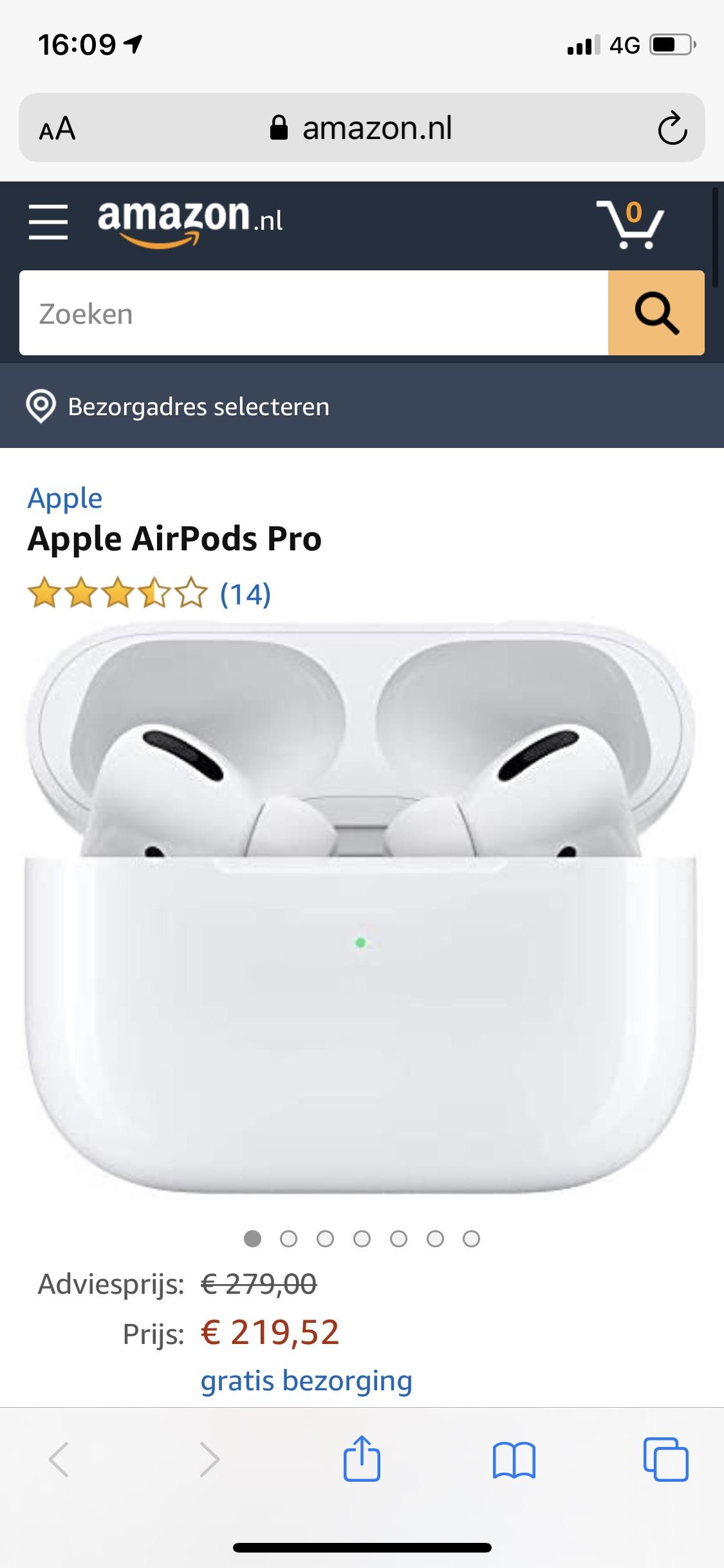 Apple AirPods Pro @Amazon.nl