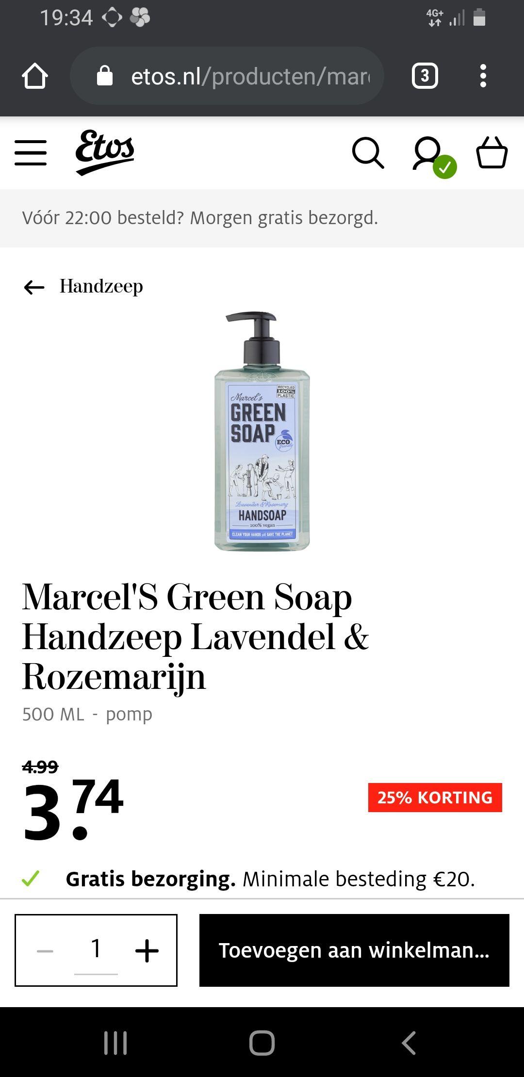 Green soap aanbiedingen bij etos gratis verzending vanaf 20 euro