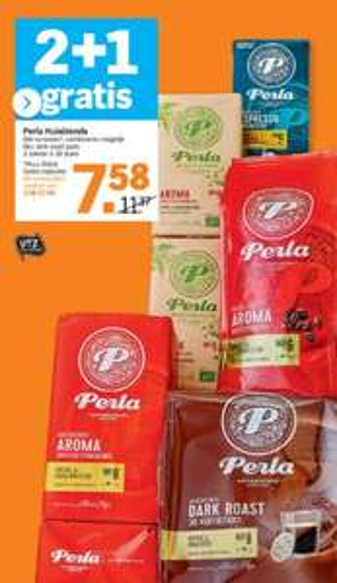 2+1 gratis Perla Huisblends (Capsules, Pads, Bonen en Snelfiltermaling)