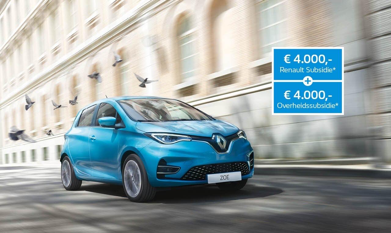 € 8.000 korting op de Renault ZOE