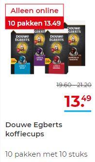 Douwe Egberts 100 koffiecups voor €13,49 @Hoogvliet