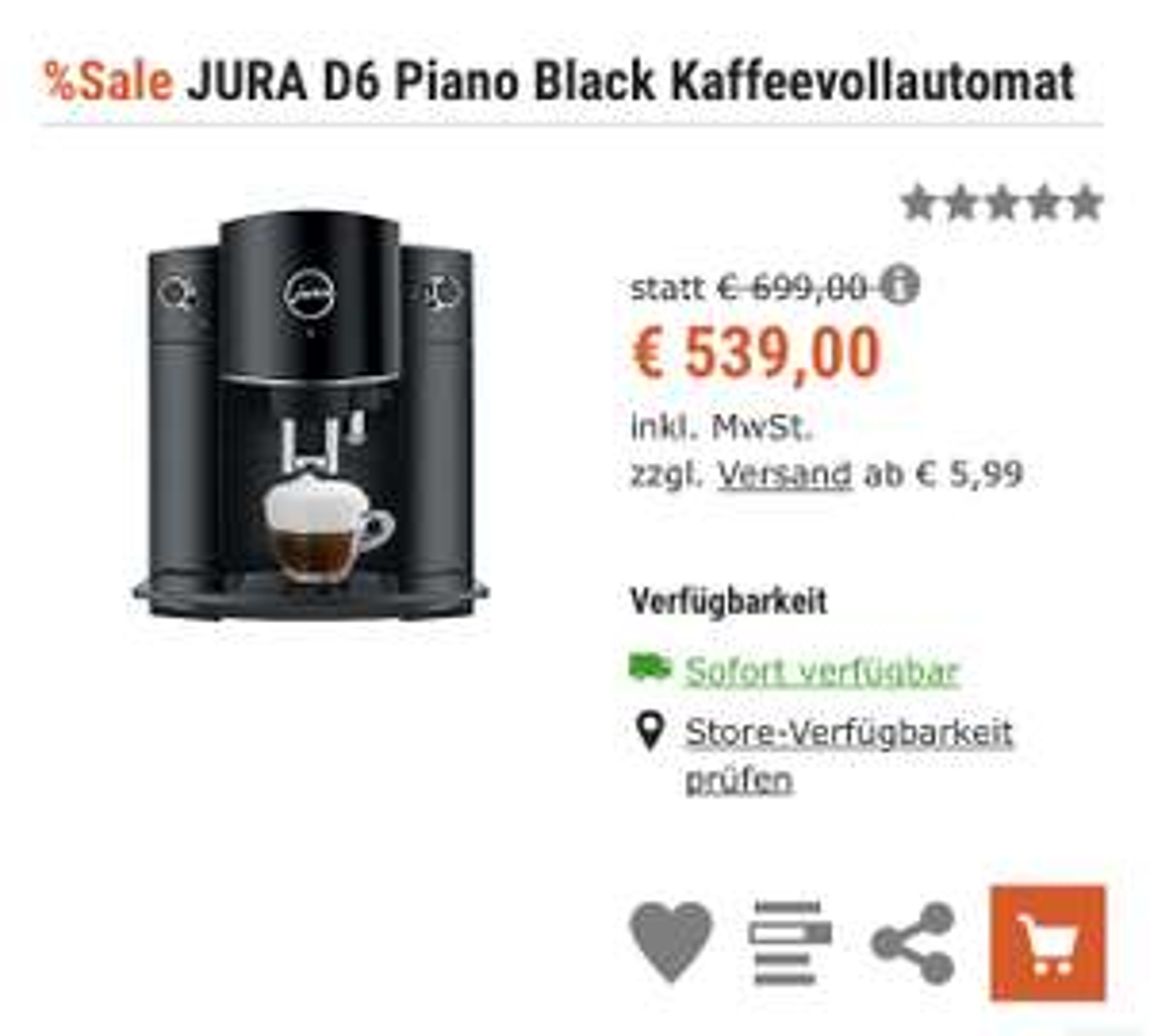 Jura D6 espressomachine