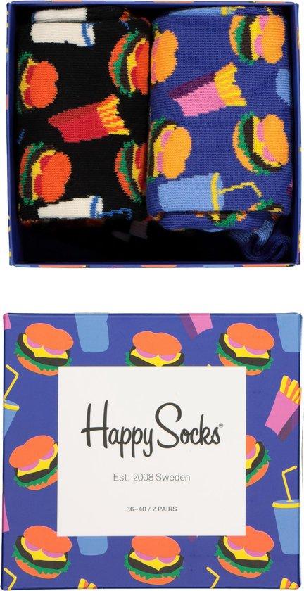 Happy Socks Special Hamburger Giftbox - Maat 41-46 2 stuks