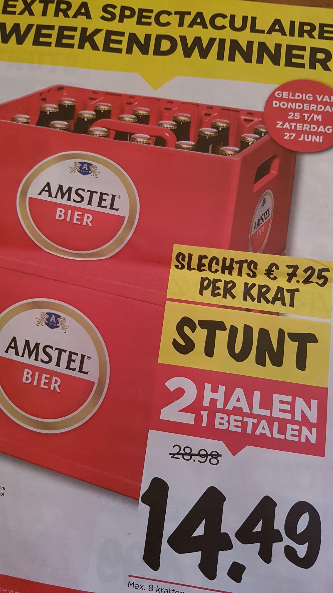 Amstel Krat 1+1 gratis @Vomar