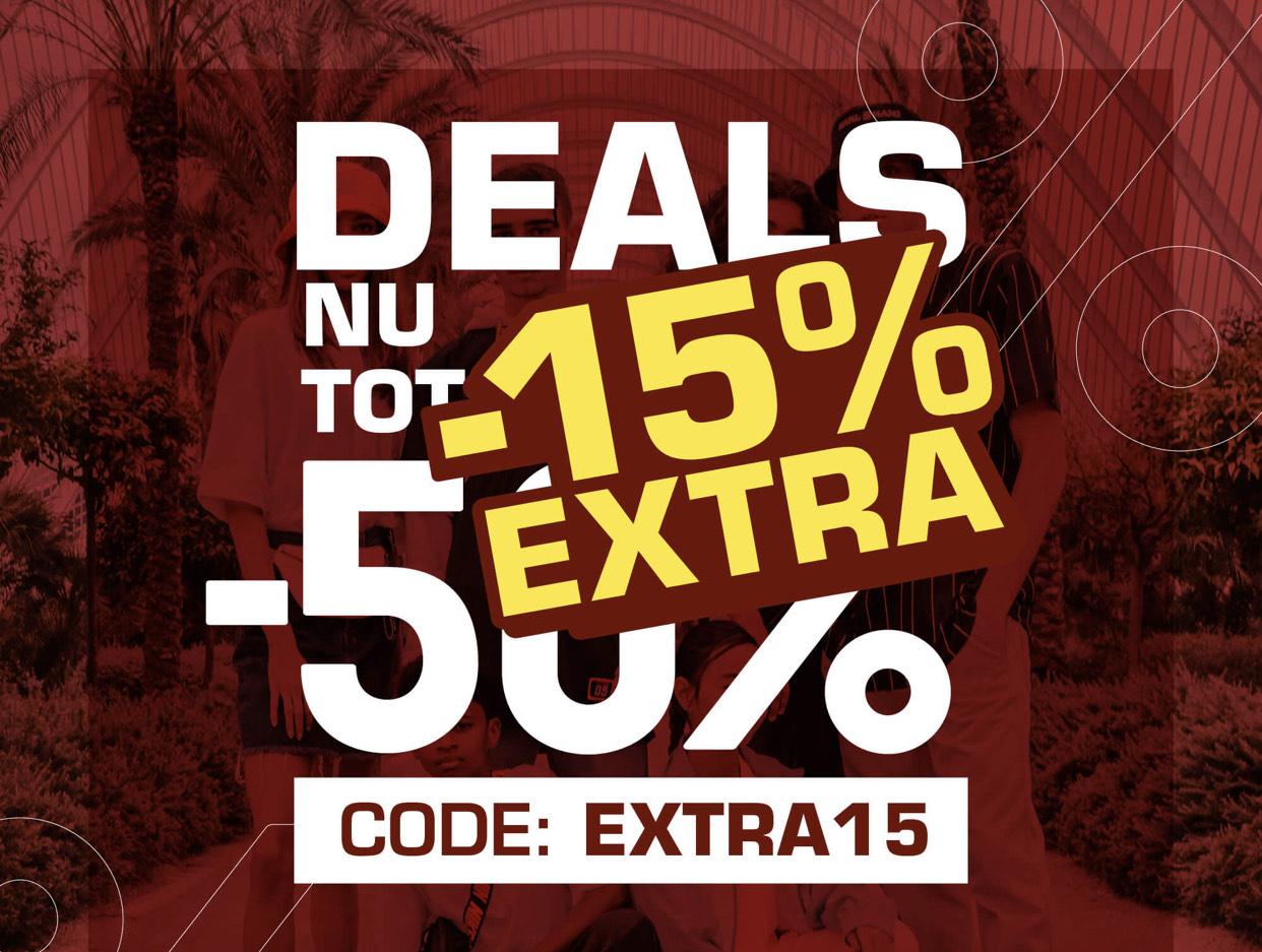 15% extra korting op Sale bij Snipes.nl