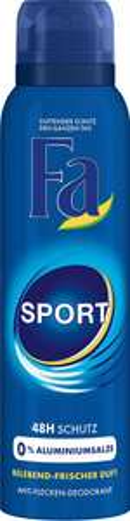 Fa sports Deo 6 stuks voor €4.58