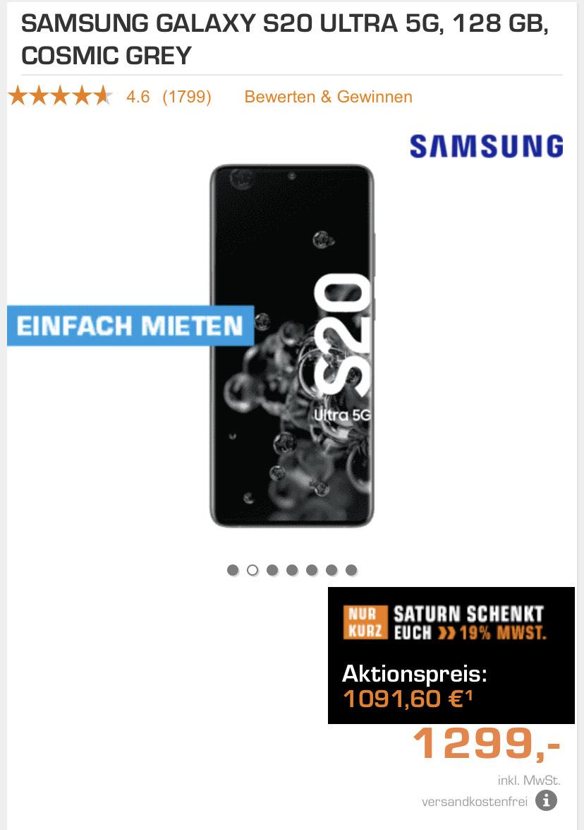 (Grensdeal) Galaxy S20 Ultra Grijs