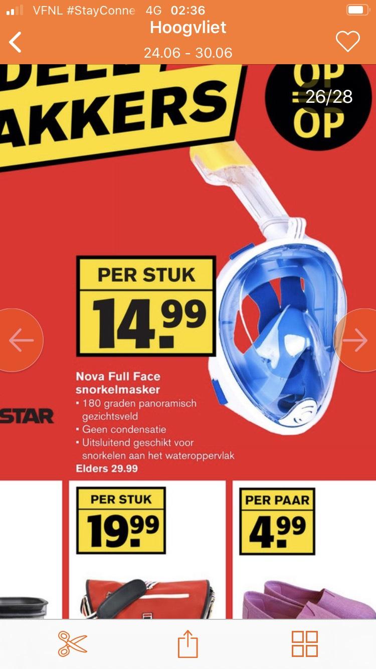 Snorkelmasker bij Hoogvliet