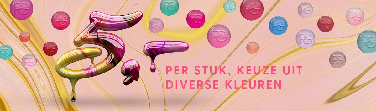 Pink Gellac 5 kleuren nu voor €5,- per stuk