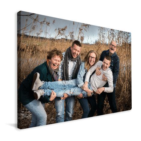 84% korting op 120x80 cm en 4 cm dik canvas met eigen foto