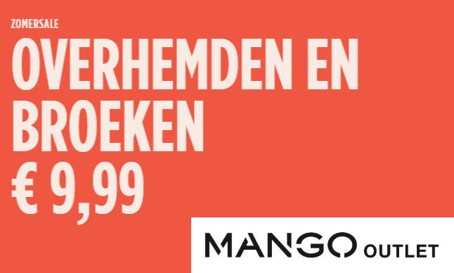 Actie: damesblouses en -broeken €9,99 [tot -80%] @ Mango Outlet