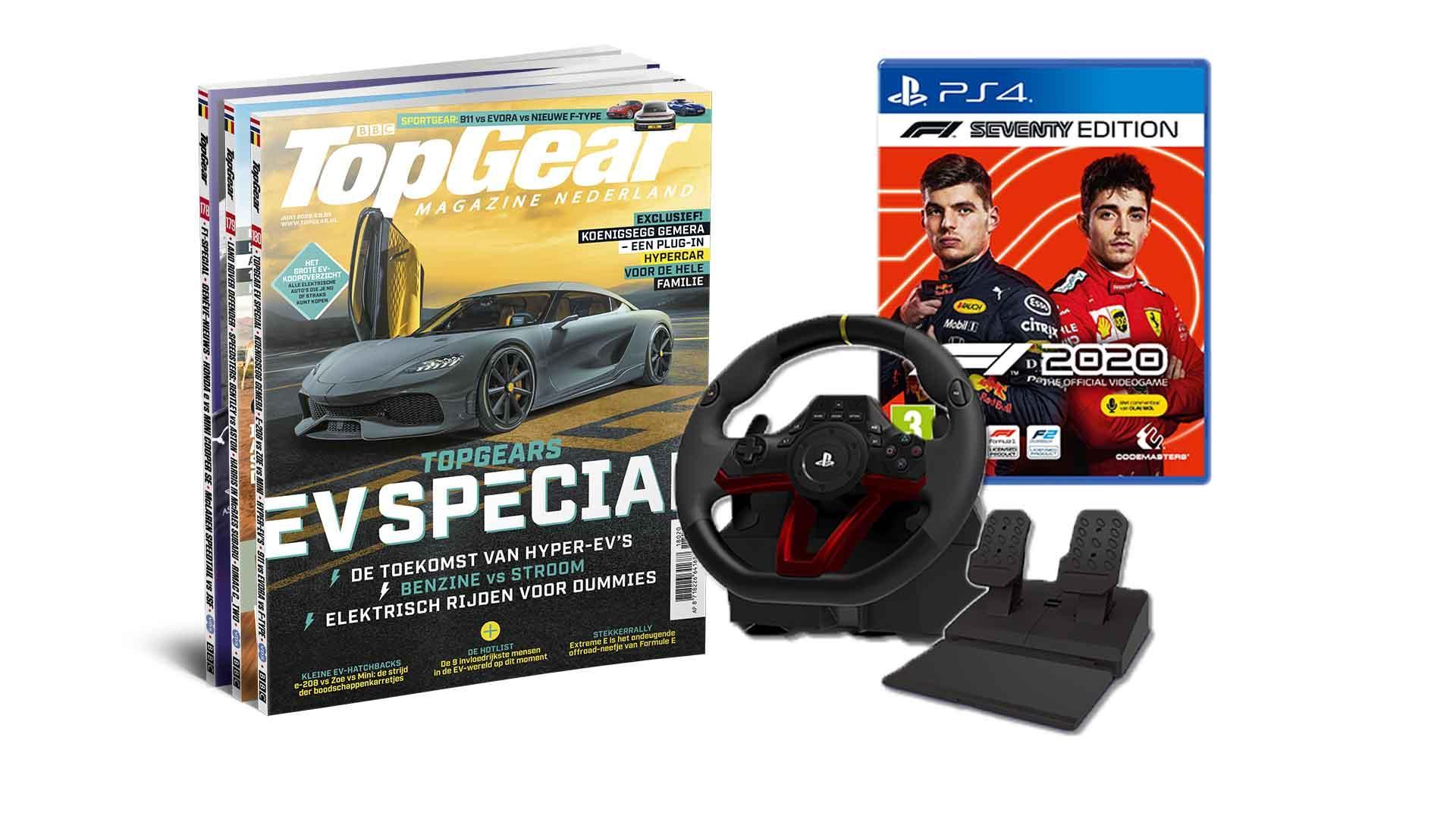 F1 2020 + Hori Wireless Racestuur + TopGear Magazine voor 119,95