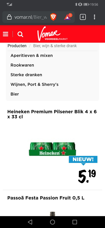 Heineken Sixpack 4x6 (fout op de site?)