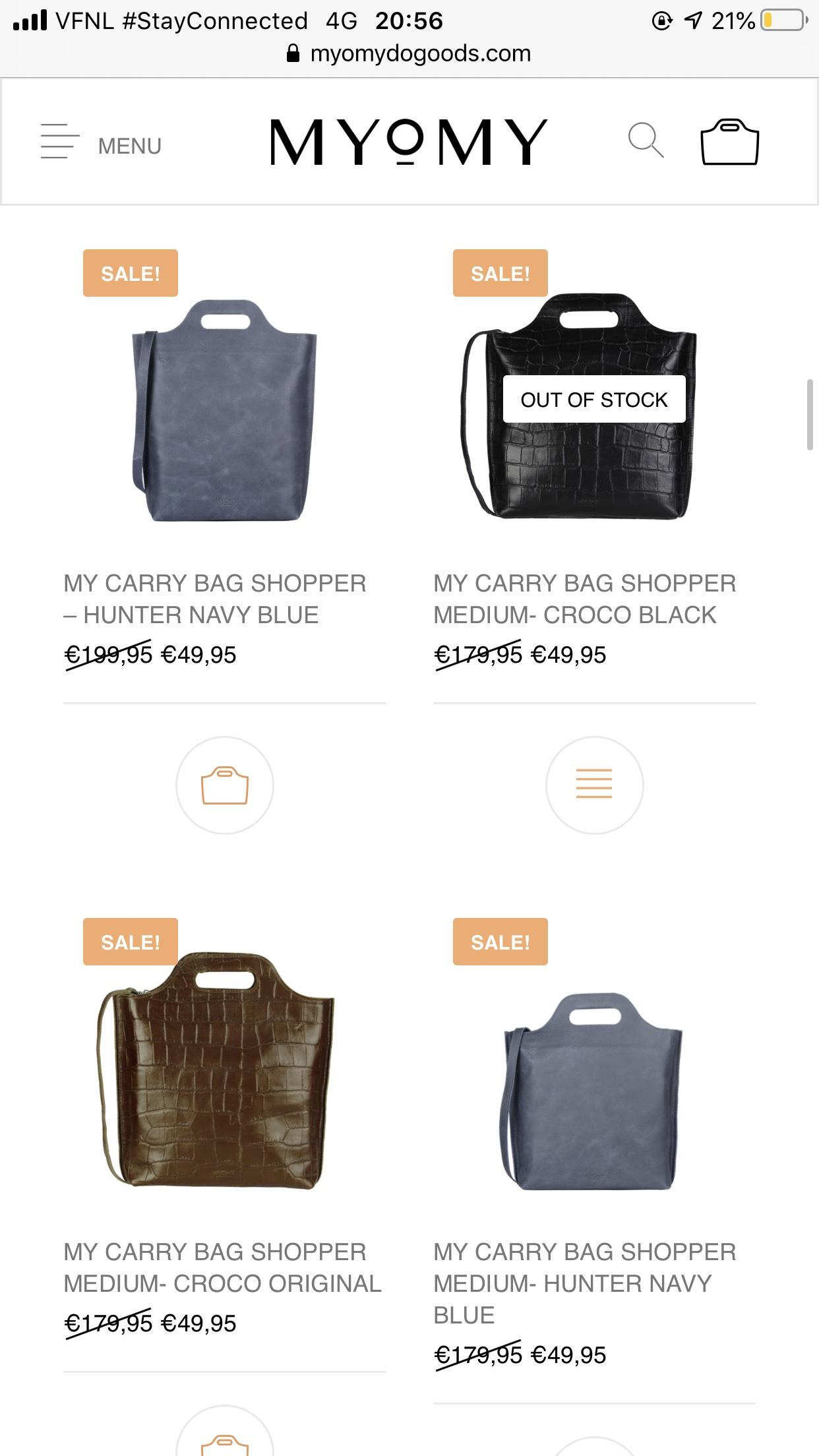 MYOMY (paperbag) tassen tot 75% (early access)
