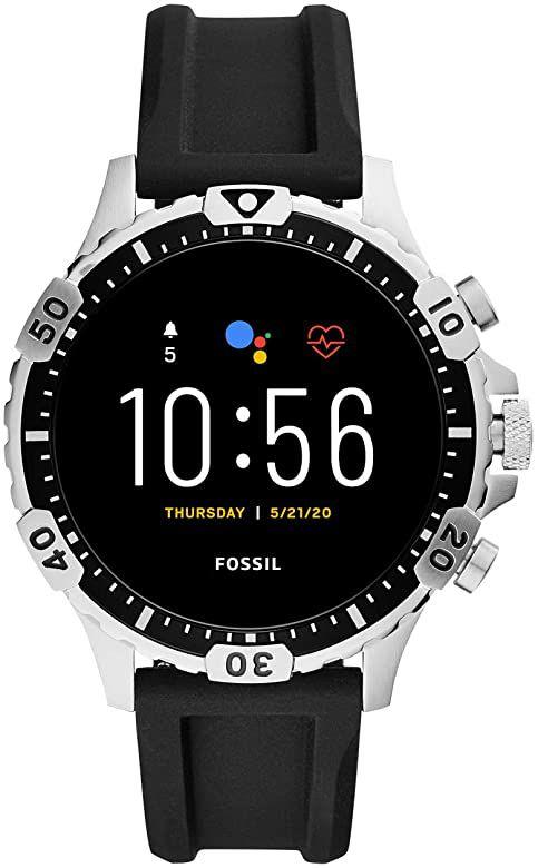 Fossil Garrett HR Gen 5 RVS (Zwart) FTW4041 Smartwatch