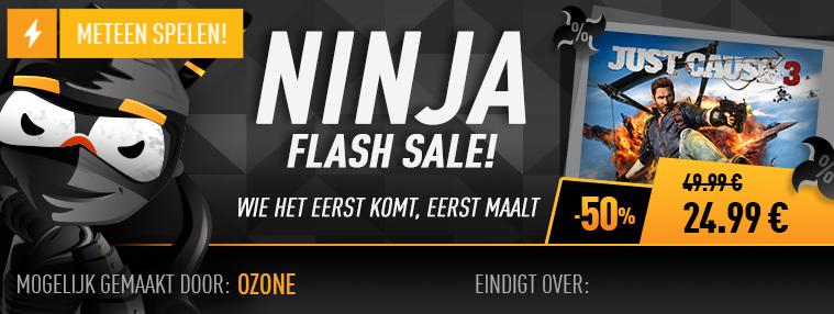 Just Cause 3 PC Instant Delivery met code EN cashback van € 44,99 voor € 16,49 @Kinguin