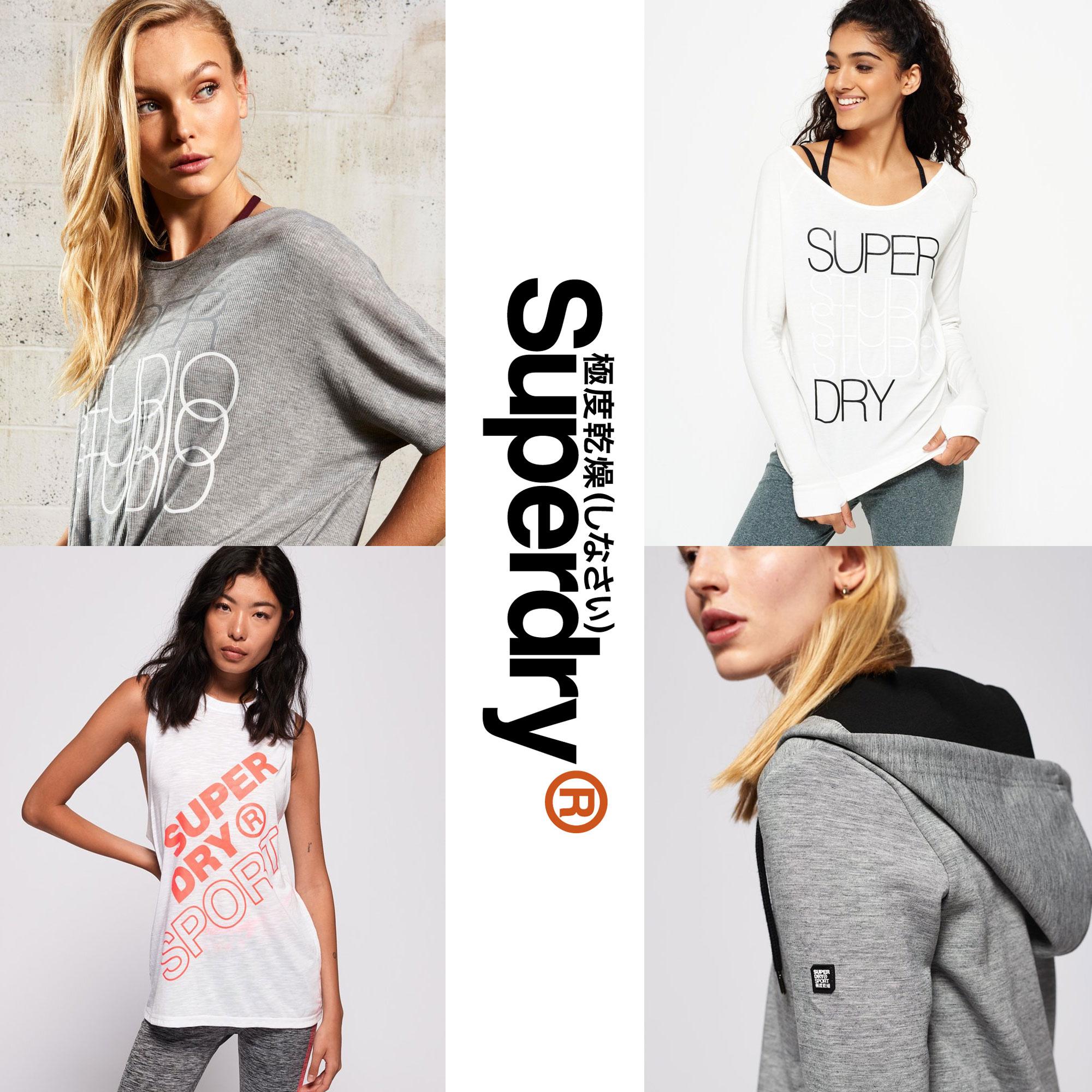 Diverse dames sportkleding -75% @ SUPERDRY