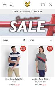 Lyle and Scott Summer Sale tot 50% Korting