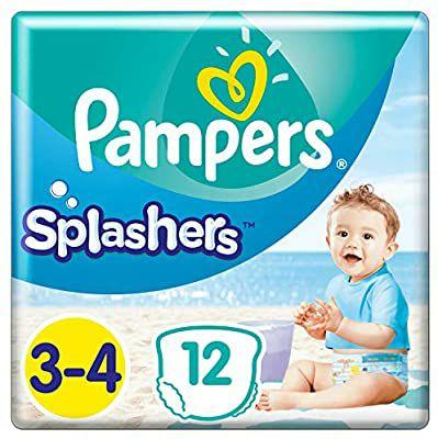 Pampers Splashers zwembroekjes maat 3-4, 96 stuks (8 x 12 stuks)