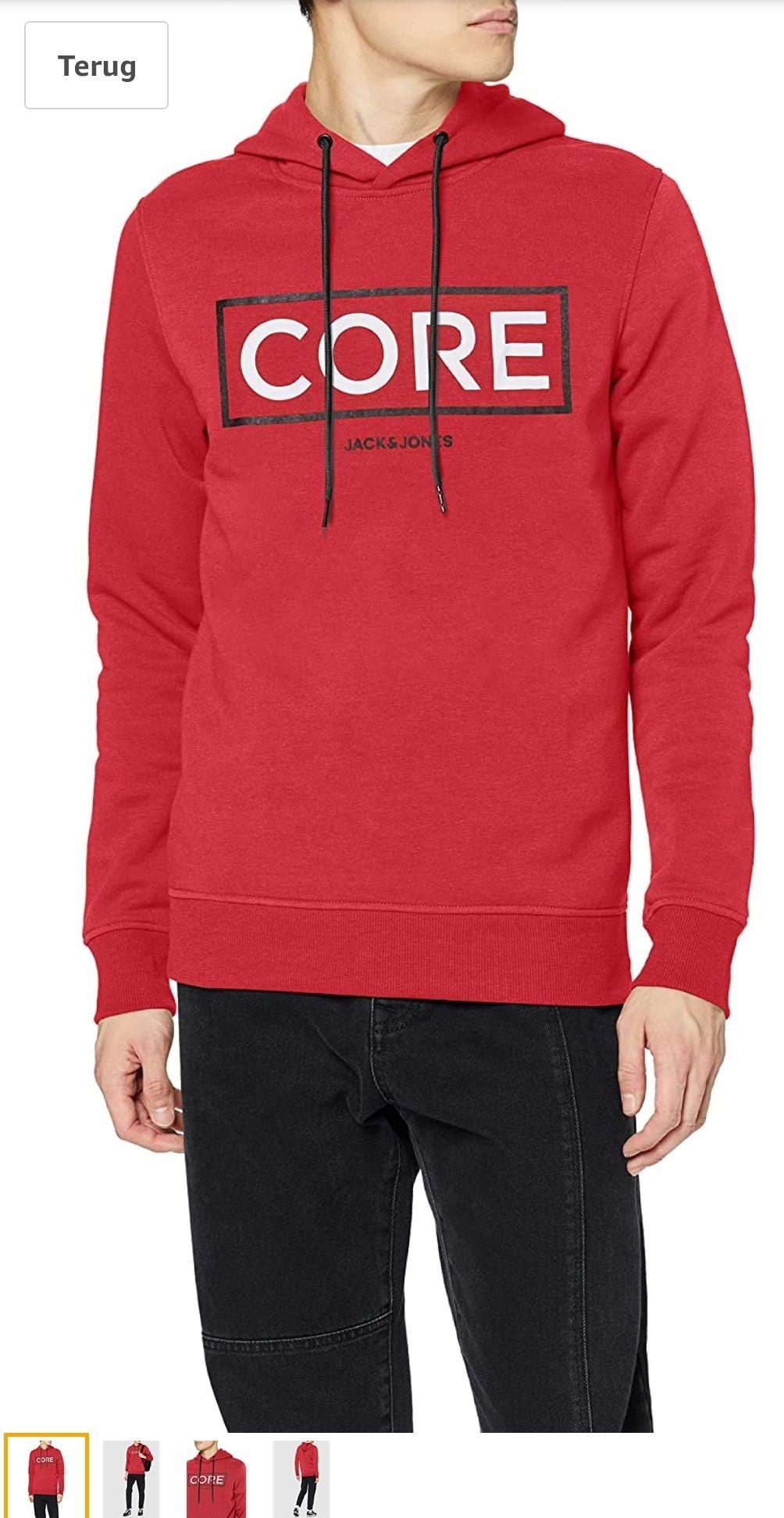 Jack & Jones Core Hoodie Rood @ Amazon.nl
