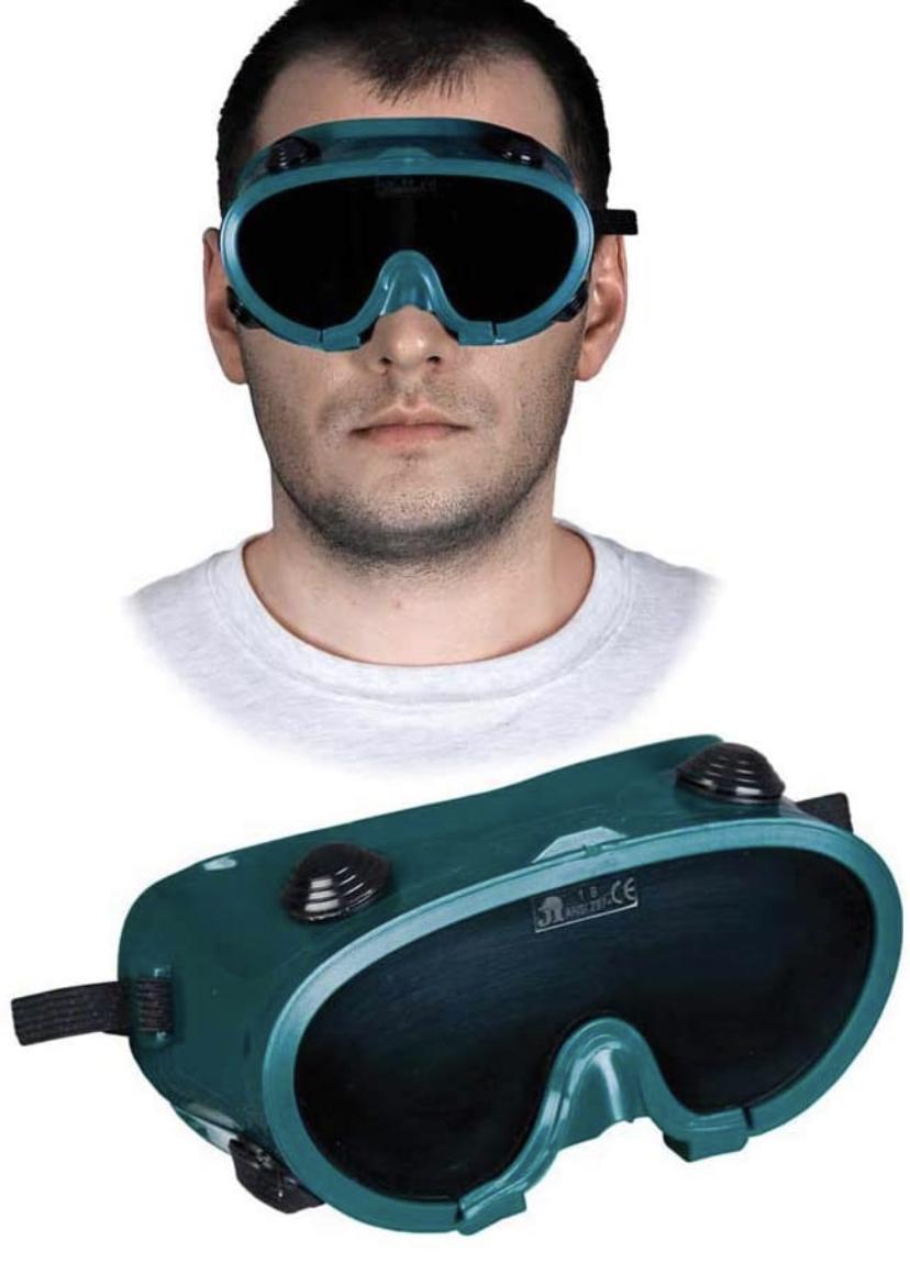 Gog-SPARK veiligheidsbril voor lasser, groen-zwart, effen grootte, 20 stuks
