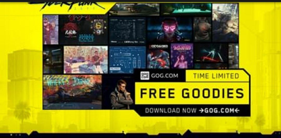 [gratis] Cyberpunk 2077 Goodies Collection @GOG.com