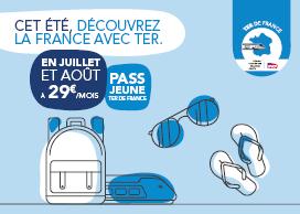 1 maand onbeperkt regionale treinen gebruiken in Frankrijk (-26 jaar)