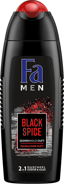6x Fa Men Black Spice, douchegel en haar (2 in 1) voor heren 250 ml