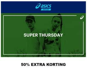 50% EXTRA korting op 175+ sneakers + 10% EXTRA @ Asics Outlet
