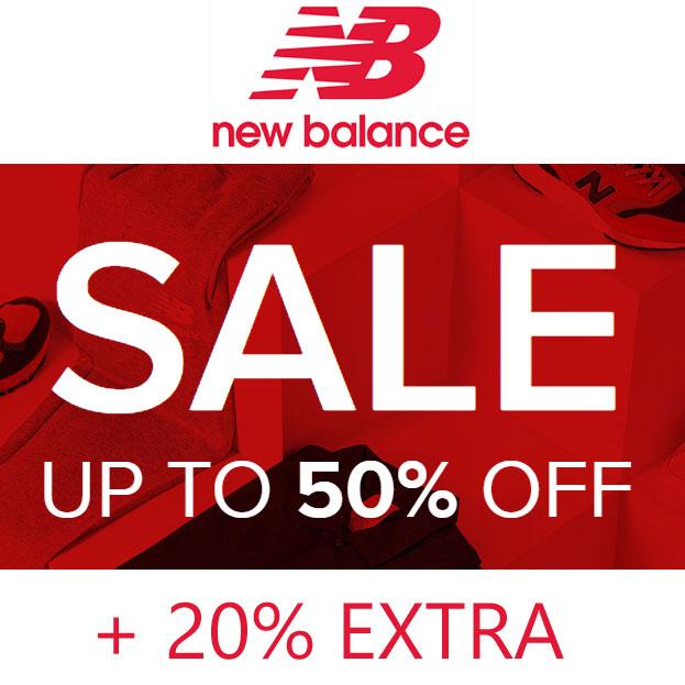 SALE tot -50% + 20% EXTRA @ New Balance