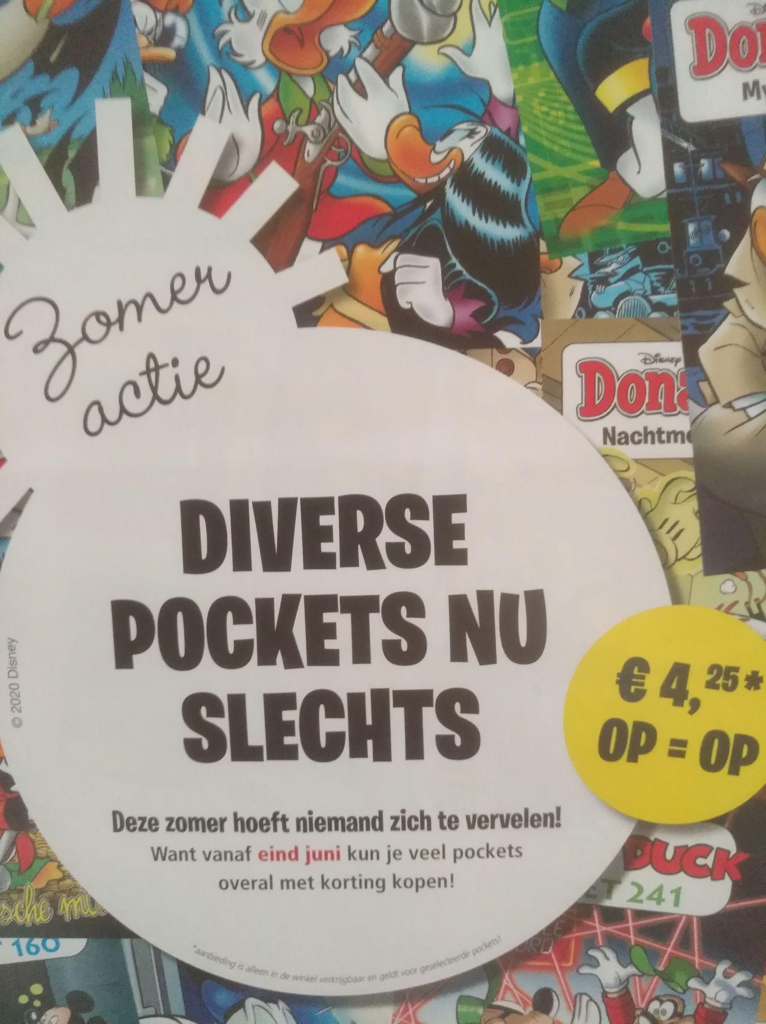 Diverse Donald Duck pockets voor €4,25 @Supermarkten en boekhandels