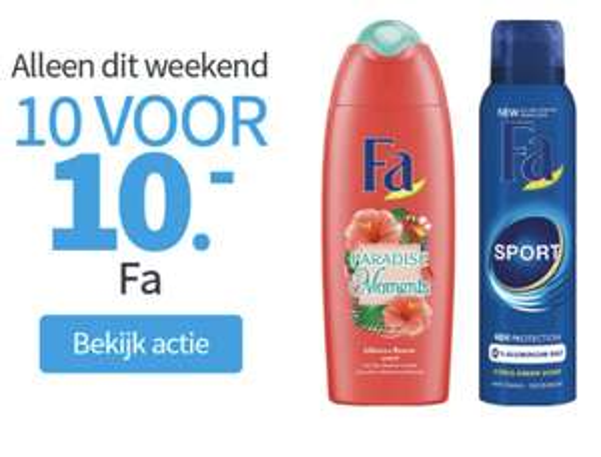 10 x Fa voor 10 euro bij Plein.nl